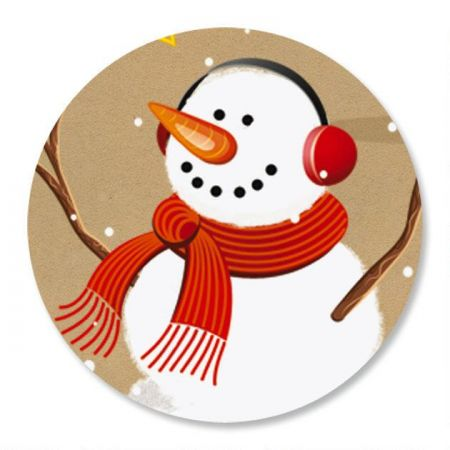 Snowman on Kraft Seals