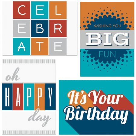 Modern Masculine Birthday Cards and Seals