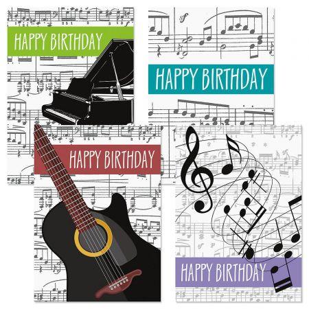 Music Birthday Cards & Seals