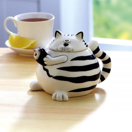 Cat and Mouse Teapot