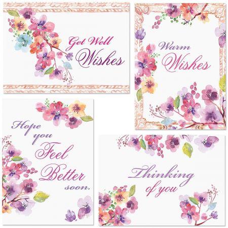 Floral Frame Get Well Cards