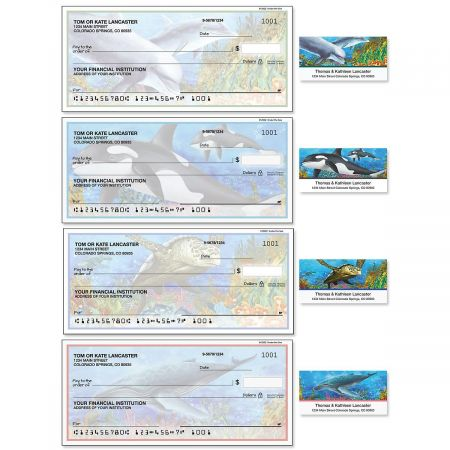 Under the Sea Single Checks with Matching Labels