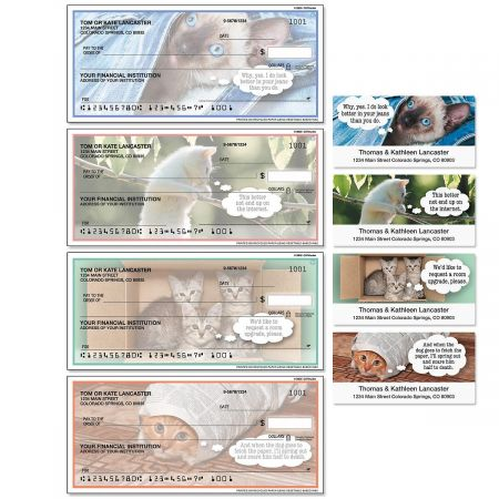 CATitudes Single Checks with Matching Address Labels