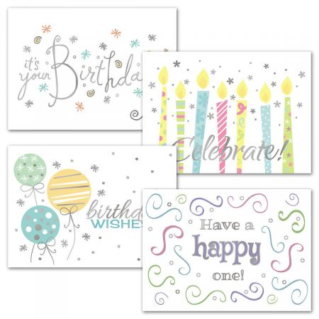 Wishes Deluxe Foil Birthday Cards and Seals