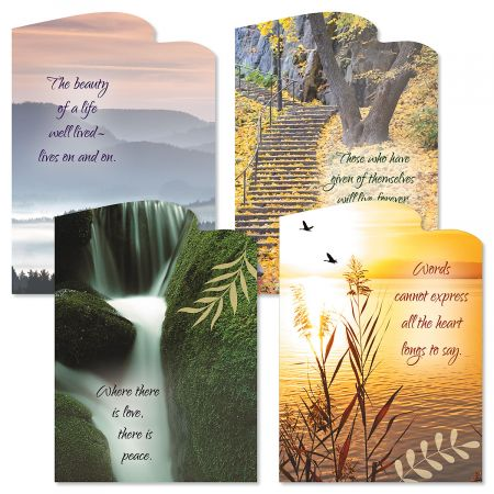 Diecut Naturals Sympathy Cards and Seals