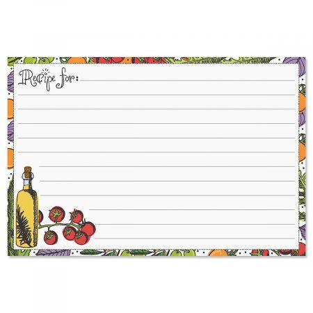Veggie Recipe Cards - 4 x 6