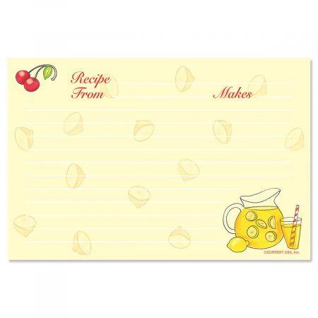 Summer Recipe Cards - 4 x 6