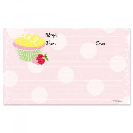 Cupcake Recipe Cards - 3 x 5