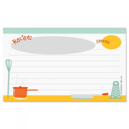 Kitchen Recipe Cards - 3 x 5
