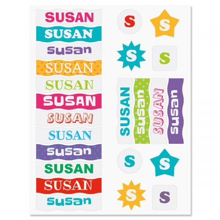 Personalized Name Stickers - 6 Characters