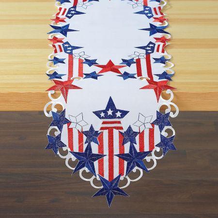 Diecut Patriotic Table Runner