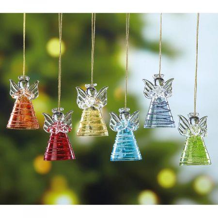 Glass Angel Christmas Ornaments