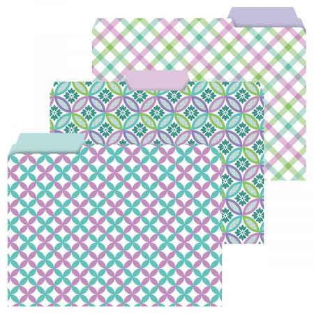 Pink and Teal File Folders