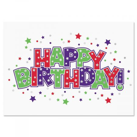 Deluxe Foil Bold Happy Birthday Cards