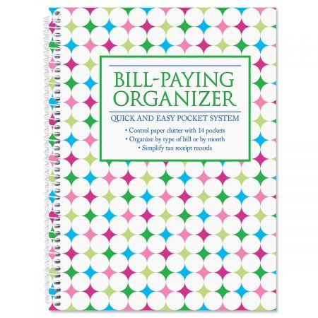 Neon Brights Bill-Paying Organizer