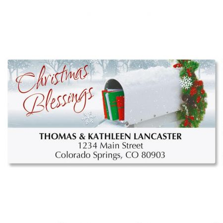 Holiday Delivery Christmas Address Labels