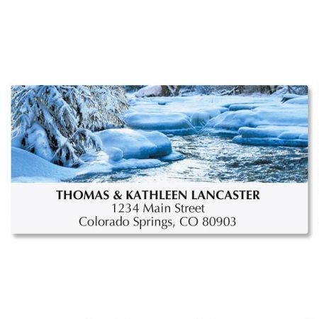 Snowy Stream Address Labels
