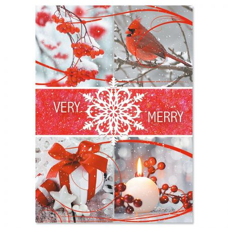 Holiday Collage Personalized Christmas Cards - Set of 18