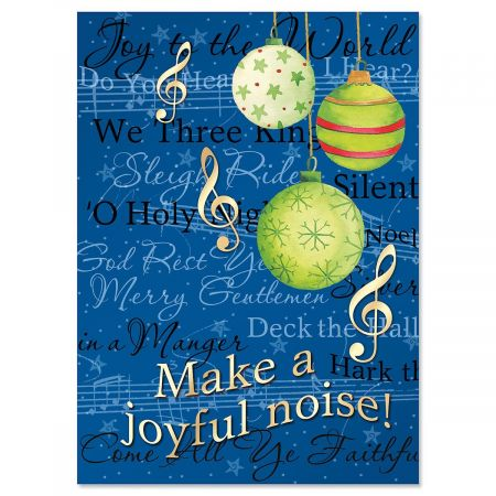 Songs of the Season Personalized Christmas Cards - Set of 18