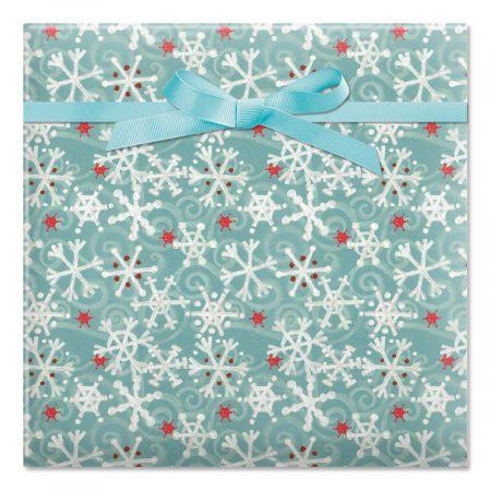 Winter Flakes Jumbo Rolled Gift Wrap