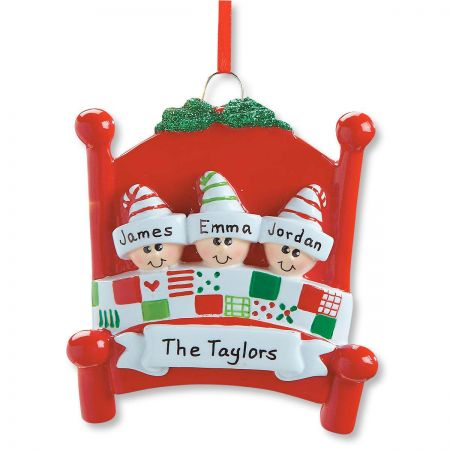 Personalized Bed Heads Christmas Ornament