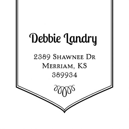 Banner Square Self-Inking Address Stamp