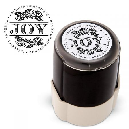 Joy Round Self Inking Address Stamp