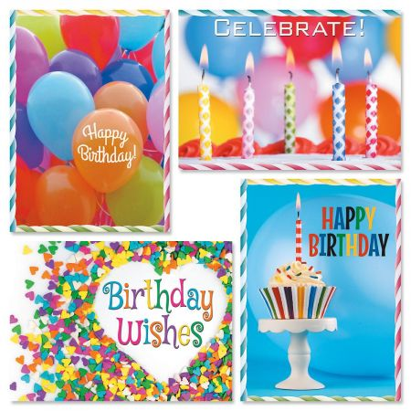 Photo Birthday Celebration Cards