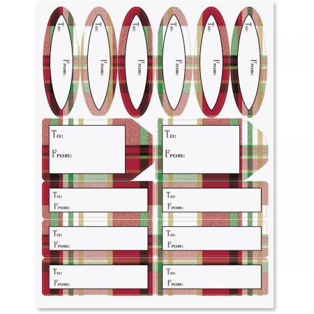 Classic Plaid Christmas Gift Labels