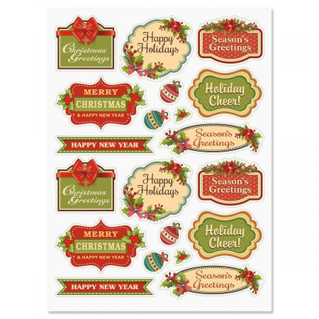 Christmas Stickers.Vintage Christmas Stickers