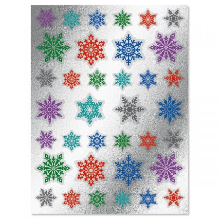 Foil Snowflake Envelope Sticker Seals