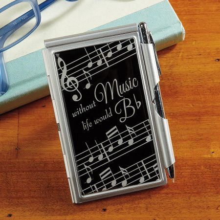 Music Notes Notepad & Pen Set