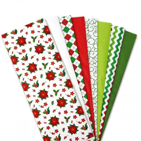 Holiday Prints and Solids Tissue Value Pack