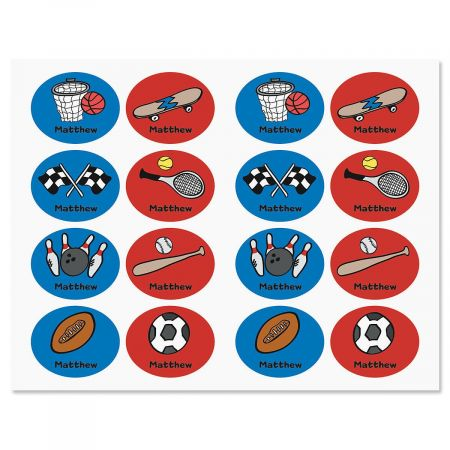 Sports Personalized Kids' Labels