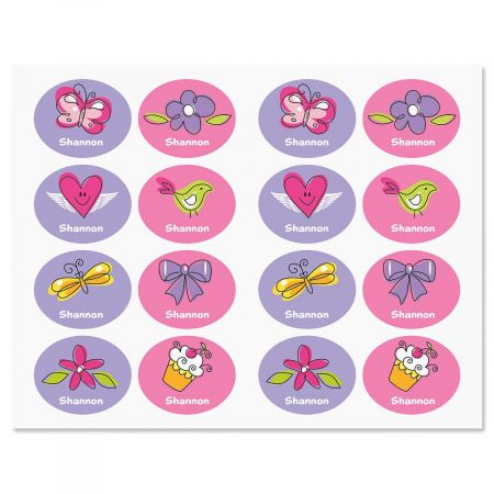 Girls Personalized Kids' Labels