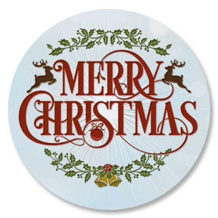 Merry Christmas Envelope Sticker Seals