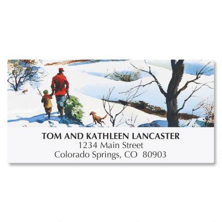 Nostalgic Christmas Address Labels
