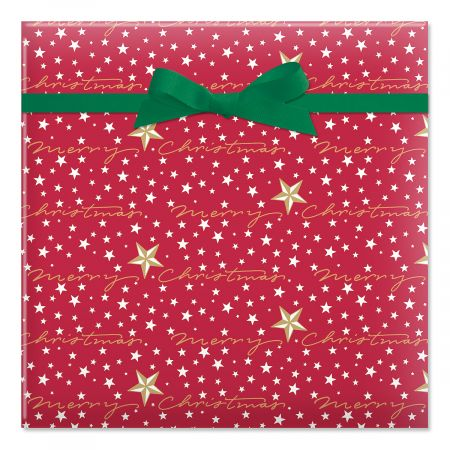 Starry Merry Jumbo Rolled Gift Wrap