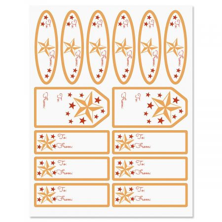 Starry Merry Labels