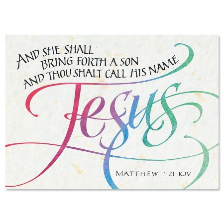 Call His Name Jesus Religious Christmas Cards