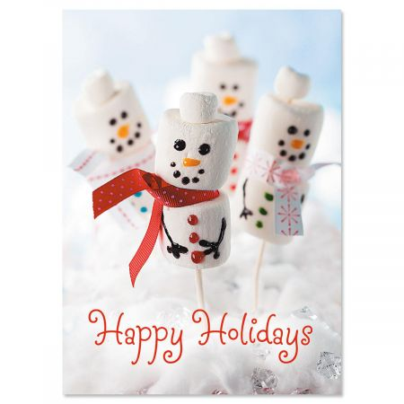 Merry Marshmallows Christmas Cards - Set of 18
