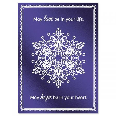 Snowflake Brilliance Deluxe Foil Christmas Cards