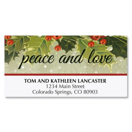 Vintage Holly Address Labels