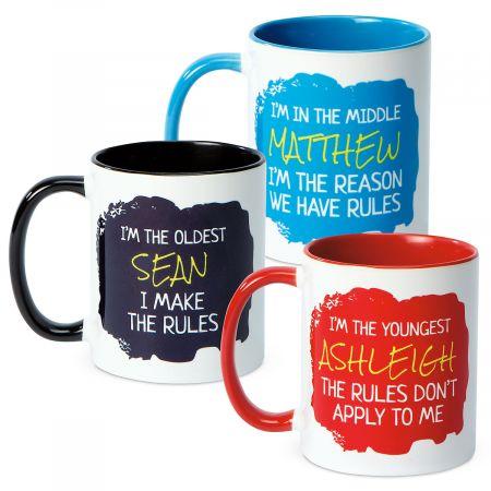 Personalized Sibling Mugs