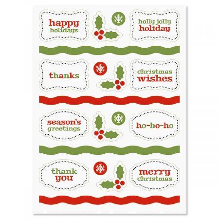 Christmas Make-A-Card Stickers