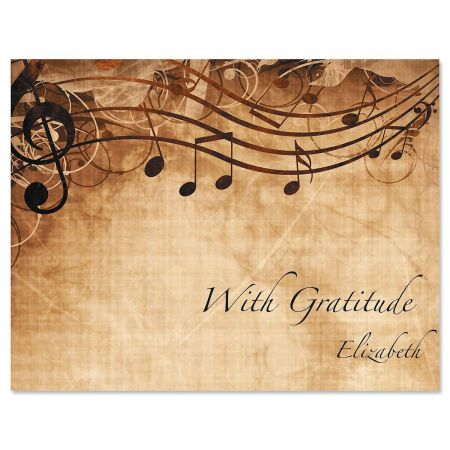 Sheet Music Personalized Thank You Cards