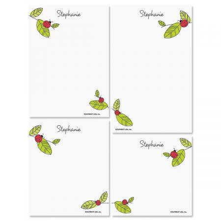Ladybugs Personalized Notepad Set