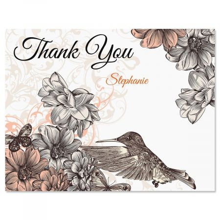 Hummingbird Garden Thank You Cards