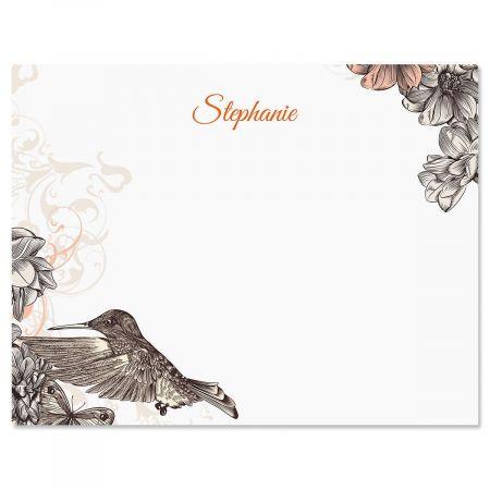 Hummingbird Garden Correspondence Cards