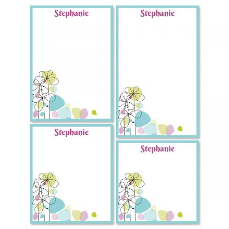 Sketched Flowers Notepad Set